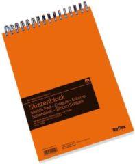 Witte Schoellershammer Reflex studioline schetspapier, 90gr, A4 spiraalblok, 120 vel