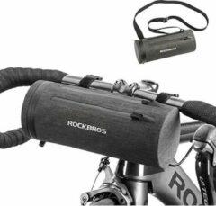 PRO Fiets frametas voor Stuur of aan fietsframe - Waterbestendige frame Fietstas - Frametas Racefiets / Fiets / Koersfiets / Mountainbike / MTB fietsen / Electrische fiets / E-Bike- Regenbestendige Fiets Frametas - Grijs - Decopatent®