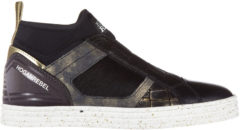 Nero Hogan Rebel Slip on donna in pelle sneakers r182 mid cut