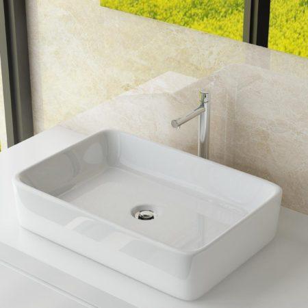 Afbeelding van Witte Best Design Class wastafel 61x41x11cm zonder kraangat porselein 3860550