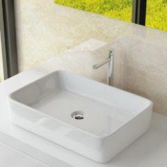 Witte Best Design Class wastafel 61x41x11cm zonder kraangat porselein 3860550