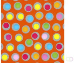 Office Apparaatrol brightsummer bolletjes oranje 200mx50cm