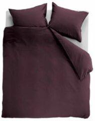 Ambiante Cotton Uni Dekbedovertrek - Lits-jumeaux - 240x200/220 cm - Donkerrood