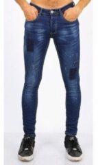 Blauwe Skinny Jeans New Stone Strakke heren jeans - Goedkope Biker jeans mannen - 3009