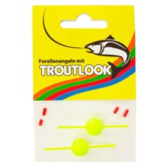 Troutlook Plug-in pilot - yellow - 14mm - 2 stuks