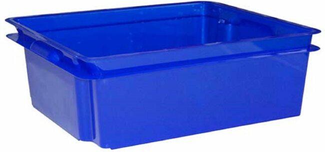 Afbeelding van Keter Crownest - Opbergbox - 17 Liter - Blauw - 43x36x14.5cm - (set van 4) En Yourkitchen E-kookboek - Heerlijke Smulrecepten