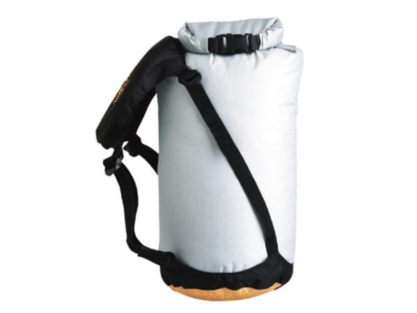 Afbeelding van Oranje Sea to Summit - eVent® Compression Dry Sack - Drybags - Waterdichte compressiezak - 20L - Grijs/Geel