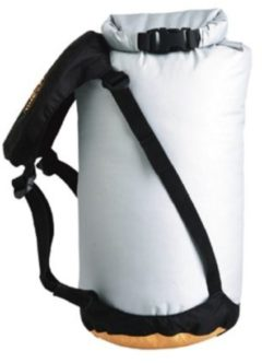 Oranje Sea to Summit - eVent® Compression Dry Sack - Drybags - Waterdichte compressiezak - 10L - Grijs/Geel