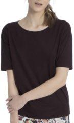 Kurzarm-Shirt Calida black cherry