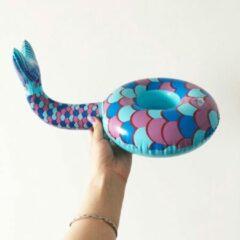 Assortimarkt.nl Opblaasbare Zeemeermin voor in zwembad en stand speelgoed glas / blikhouder opblaasbaar speelgoed voor in water