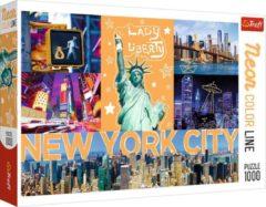 Trefl Puzzel - Puzzel 1000 stukjes - Legpuzzel voor Volwassenen - New York - Neon Editie