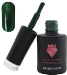 Influence - Premium Gellac Influence Gellac #GUILTYGREEN - UV / LED Gellak - Gel nagellak - Groen / Glitter - 10 ml