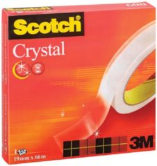 Scotch® Scotch Plakband Crystal formaat 19 mm x 66 m doos met 1 rolletje