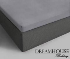Grijze Dreamhouse bedding katoenen topper hoeslaken grey - 1-persoons (90 cm) - grijs