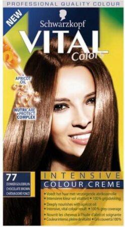 Afbeelding van Goudkleurige Schwarzkopf Vital Colors 77 Donker Goudbruin - Haarverf