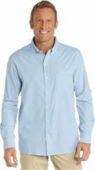 Blauwe Coolibar UPF 50+, 98% UV-bescherming Heren Outdoorshirt Maat S