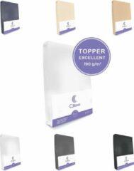 Cillows Excellent Jersey Hoeslaken voor Topper - 200x220 cm - (tot 5/12 cm hoogte) – Wit