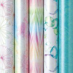 Enper Pretty Pastels - Luxe Cadeaupapier - Inpakpapier - 200 x 70 cm - 5 rollen