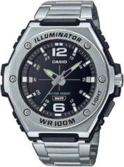 Casio Casio Collection MWA-100HD-1AVEF Horloge - RVS - Zilverkleurig - Ø 45 mm