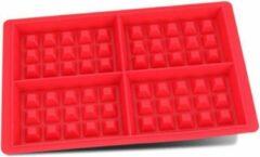 Go Go Gadget Siliconen wafel vorm | keukentool | 4 wafels | rood