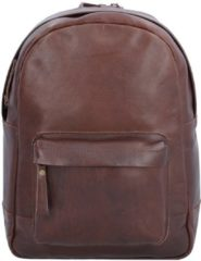 Nasty Cowboys Houston Rucksack Leder 35 cm Laptopfach Billy the kid nut brown