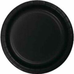 Stemen Kartonnen Bordjes zwart 18cm 20st - Wegwerp borden - Feest/verjaardag/BBQ borden / Gebak bordjes maat