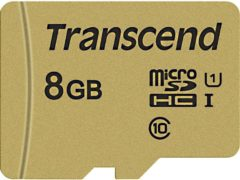 Transcend Premium 500S microSDHC-kaart 8 GB Class 10, UHS-I, UHS-Class 1 Incl. SD-adapter