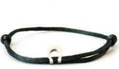 Caviar Collection Armband / Enkelbandje Neon Dark groen X Horseshoe Silver