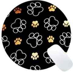 Bruine Merkloos / Sans marque LeuksteWinkeltje muismat Pootjes - met textiel toplaag - rond 20 cm