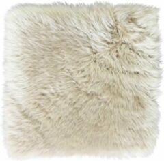 Dutchskins Stoelpad linnen vierkant - 35 x 35 cm - 100% schapenvacht - stoelcover - stoelzitting - moederdag cadeautje