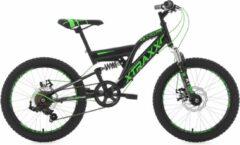 "Ks Cycling Fiets KS Cycling fiets mountainbike 20"" XTRAXX zwart-groen - 30 cm"