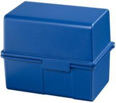 Bruna Kaartenbak Han breed A6 kunststof blauw