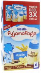 Nestle Pyjamapapje Vanille (3 Pakjes van 250 ml)