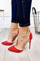 Rosso Alx Trend Decolleté in vernice con borchie Melany Rosse