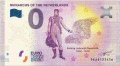Paarse 0 Euro Biljet 2020 - Vorsten van Nederland - Koning Lodewijk Napoleon