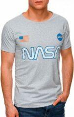Licht-grijze Ombre T-shirt - heren - S1437 - Nasa - Lichtgrijs