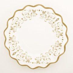 Goudkleurige Merkloos / Sans marque Luxe schaaltjes goud 24 cm