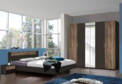 Wimex Schlafzimmer-Set mit Drehtürenschrank (4-tlg.)