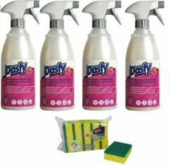 Dasty Vlekkenverwijderaar - 4 stuks + set van 5x schuursponzen en 1x schoonmaakhandschoenen