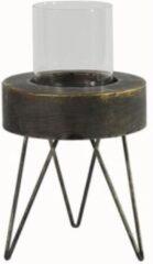 Decostar Kaarsenhouder Elcke 17 X 20 Cm Staal Grijs