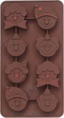 Sif Chocoflex Chocoladevorm - Siliconen - Clown - Bruin - Set-8