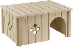 Ferplast Konijnenhuisje Sin 4646 - Kooi Accessoire - 34.5x24x16.5 cm