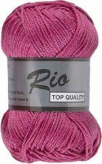 Lammy yarns Rio katoen garen - fuchsia roze (014) - pendikte 3 a 3,5 mm - 1 bol van 50 gram
