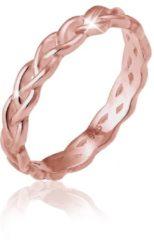Elli Ringen Knoop oneindig gedraaid - verguld 925 Sterling zilver - goudkleurig