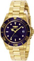 Gouden Invicta Pro Diver 8930 automatisch Herenhorloge - 40mm