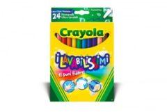 Pennarelli i lavabilissimi punta fine 24 pezzi Crayola