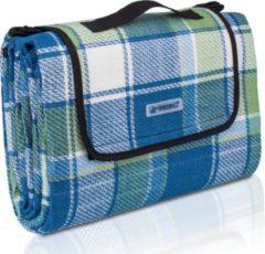 Sens Design Picknickdeken, ruitmotief, blauw-groen-wit, picknickkleed, 195 x 150 m, waterdicht, campingdeken, outdoor plaid, stranddeken