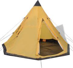 Gele VidaXL Tent 4 personen geel