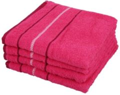 Rosa OPTISPLASH Handtuch, pink, 50 x 100 cm, 4er Set
