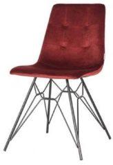 Zwarte Trend Living - Dining Chair Mick - Bordeaux - Fluweel